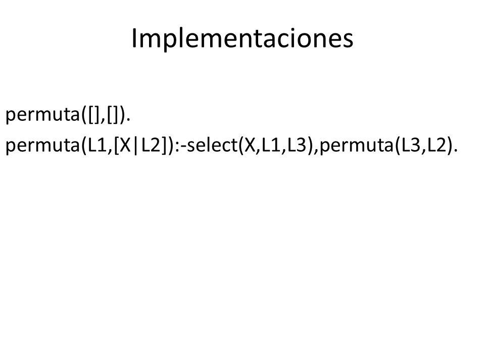 Implementaciones permuta([],[]).